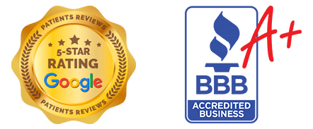 Google Reviews and BBB Accredited